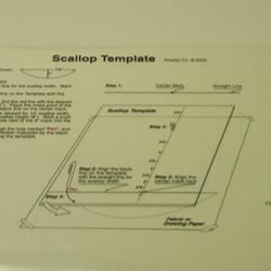 """Scallop template 3""""-20"""" Scallops"""
