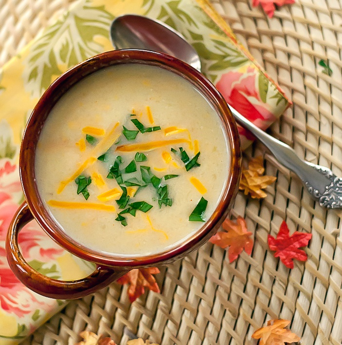 Cauliflower Cheddar Soup | A Muse in My Kitchen