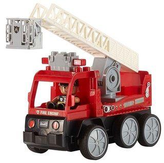 Gewinne mit ELTERN VORTEILSWELT und ELTERN Wissen einen aus fünf Sets bestehend aus einem Feuerwehr-Leiterwagen und einem Crash Car grünem Flitzer mit Schleudersitz im Wert von je 75 Euro.