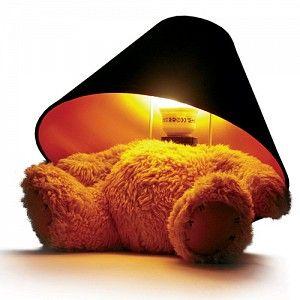 interesting teddy bear lamp (but worried about fire hazard?)