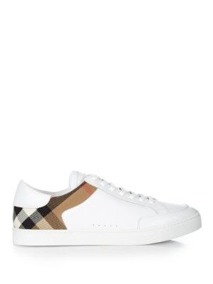 Leather house-check low-top trainers  | Burberry Shoes