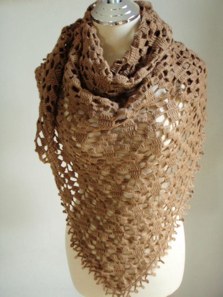 83 Best Crochet Shawls Images On Pinterest Crocheted Scarf
