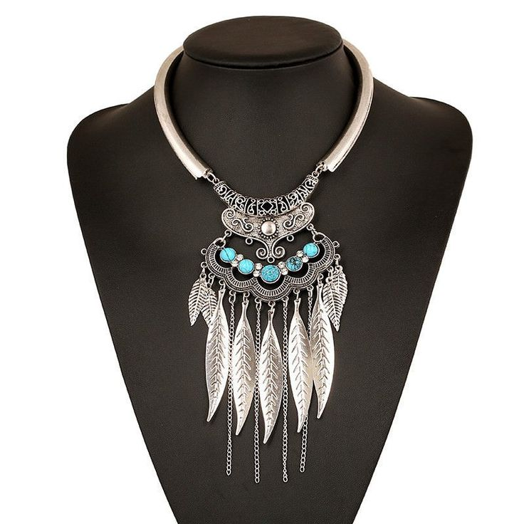 Bohemian Style Silver or Gold Statement Choker Necklace for Women
