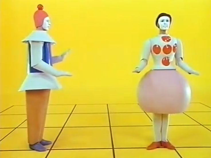 Bauhaus Triadisches Ballett by Oskar Schlemmer. Premiered in Germany in 1922.