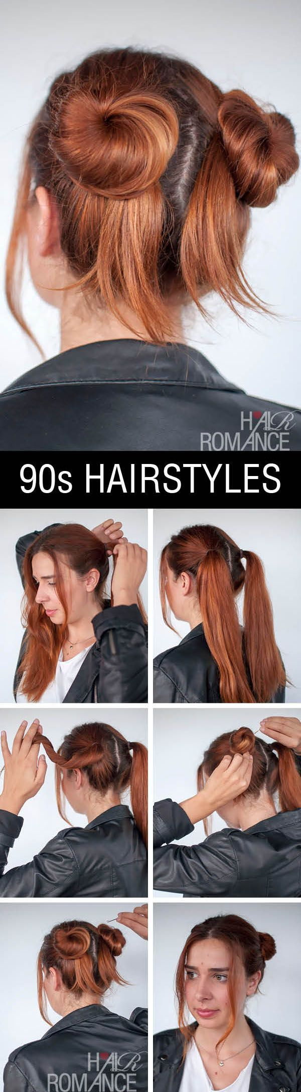 90s inspired #normcore hair tutorial – double buns | Hair Romance