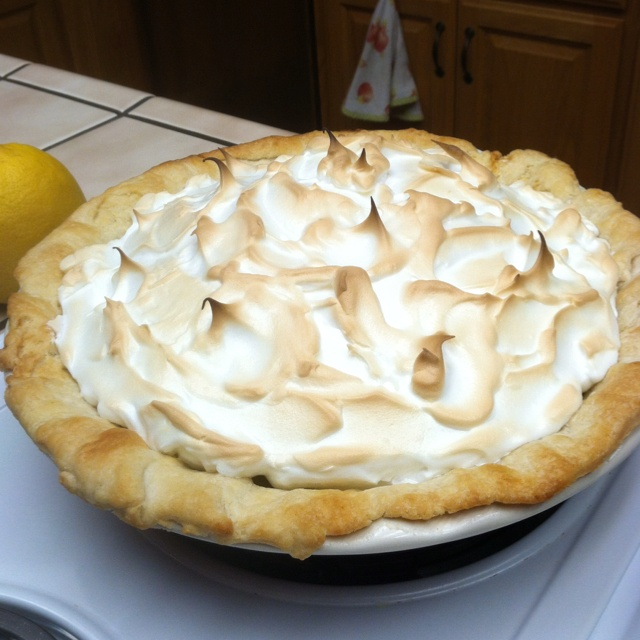 Fresh home made lemon meringue pie and I actually have the recipe for ...