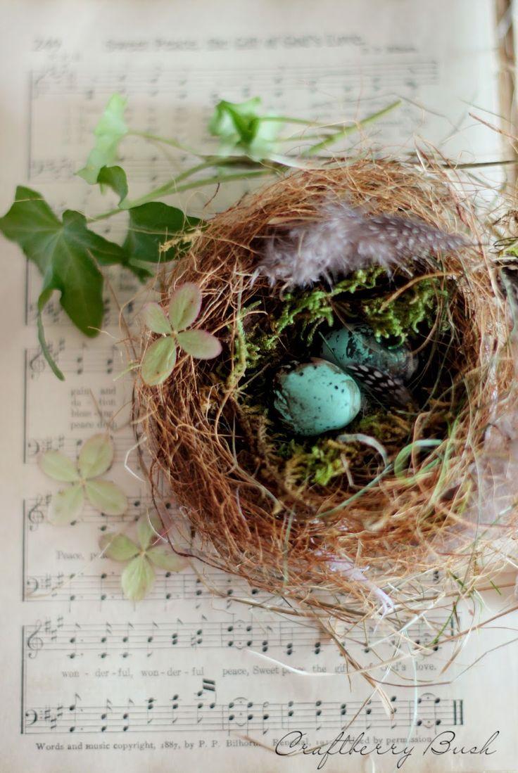 Craftberry Bush - Realistic bird's nest tutorial