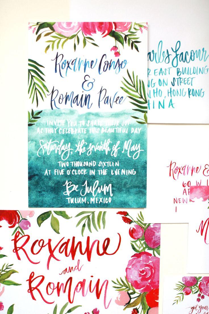 Paradise Found: Roxanne & Romain's Tulum Wedding on Harpers Bazaar // Shannon Kirsten Illustration