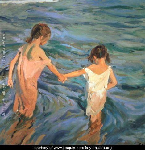 Children in the Sea, 1909 - Joaquin Sorolla y Bastida - www.joaquin-sorolla-y-bastida.org