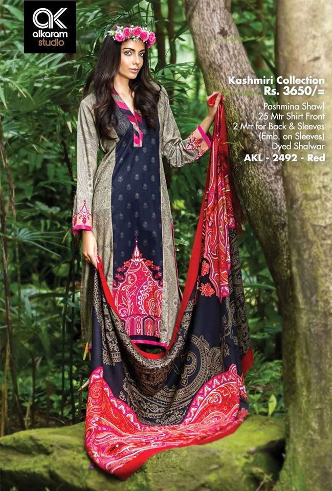 At ksabih.com AlKaram Winter Vol 1 - AKL-2492 Red, with Custom Stitching on your own Sizes All AlKaram Kashmiri Collections Available.. http://goo.gl/tEPjrG