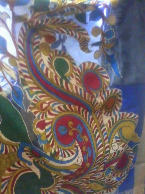 Lovely Kalamkari motif on saree pallu