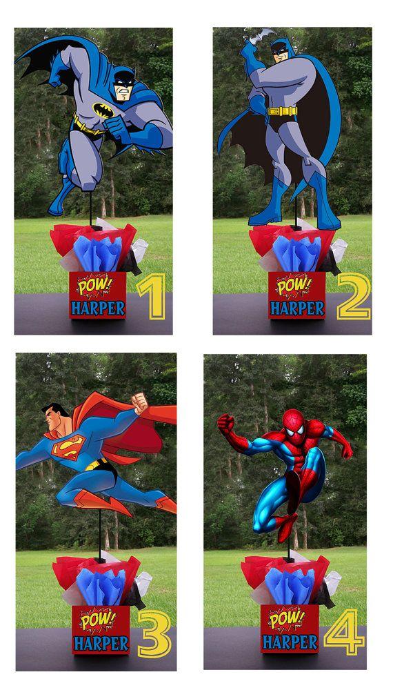 Super Hero Birthday Party Centerpieces. Playpatterns.net