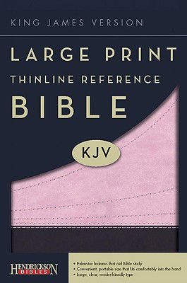 $19.97 Large Print Thinline Reference Bible-KJV (Pink/Brown) | Hendrickson Publishers | LifeWay Christian Reference Bible