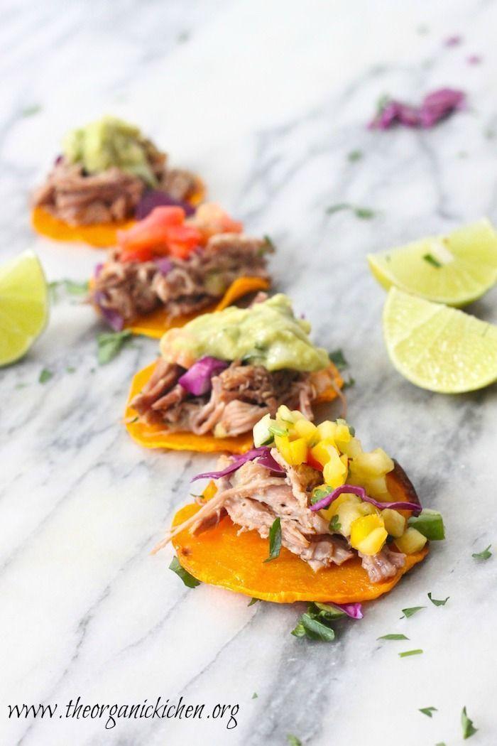 Whole 30 Pulled Pork Taco Bites! | The Organic Kitchen Blog and Tutorials #whole30 #paleo #grainfree