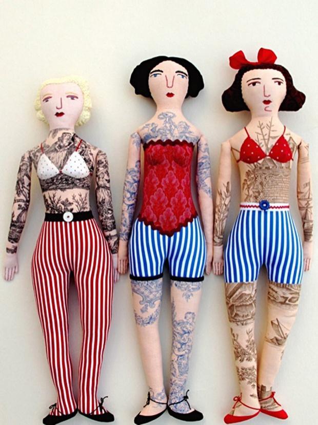 tattooed dolls for kids. my kids usually tatoo their own dolls HAHAHA!