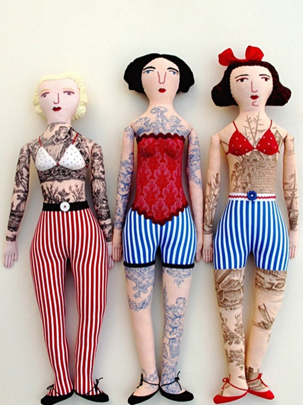 tattooed dolls for kids. my kids usually tatoo their own dolls HAHAHA!