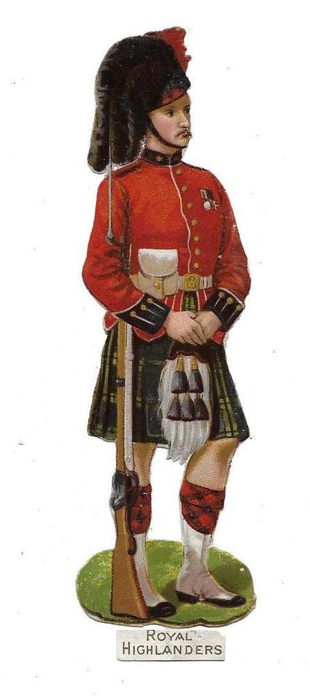 Victorian Die Cut Scrap Royal Highlander: