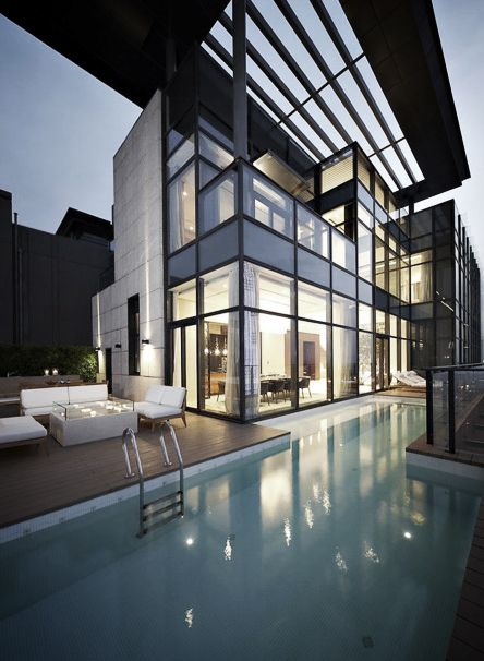 .Dreams Home, Dreams House, Trees, Architecture, Modern Home, Pools, Glasses House, Design, China