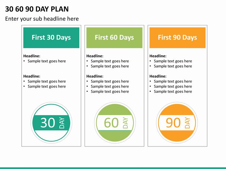 30 First 100 Days Plan Template In 2020 With Images 90 Day