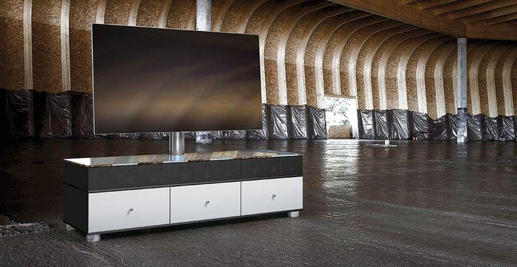 Meuble TV sonorisé #Spectral Closed : Intégration d'un système sonore puissant. #EasyLounge #design #meubletv