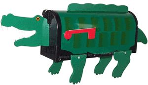 Crocodile novelty mailbox novelty mailboxes pinterest for Fish mailboxes for sale