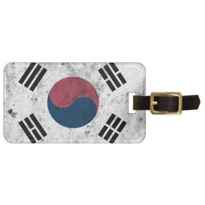 korea korea 한국 national flag 한글 Taegeukgi vintage Luggage Tag - accessories accessory gift idea stylish unique custom