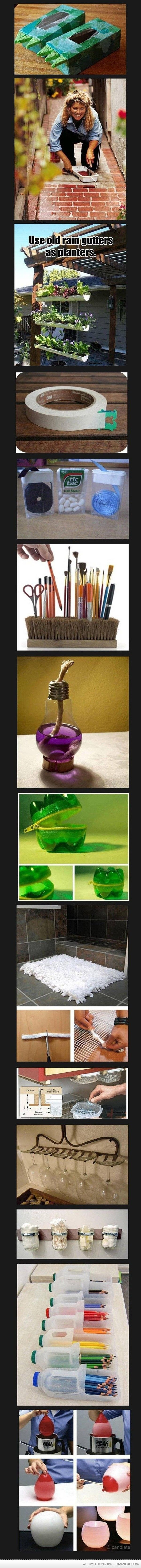 cool ideasReuse Recycle, Good Ideas, Crafts Ideas, Households Items, Cool Ideas, Wine Glasses, Life Hacks, Diy, Pencil Holders