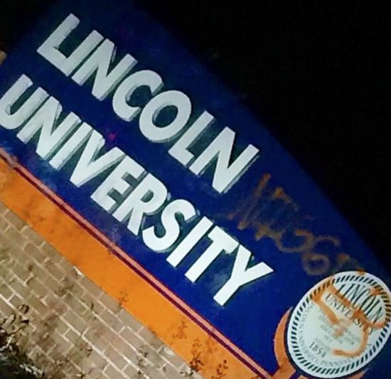Vandals spray paint 'Nigg*r' on sign of nation's first black college, Lincoln University - Founded in 1854, Lincoln University is the oldest Historically Black College and University (HBCU) in the nation. With Supreme Court Justice Thurgood Marshall and Ghanaian President Kwame Nkrumah ...
