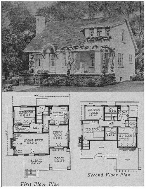 103 best Old House Plans images on Pinterest | Vintage houses ...