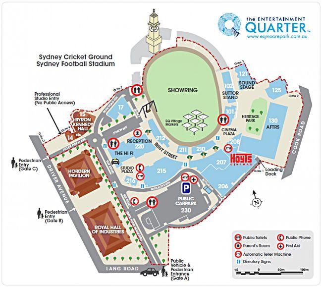 EQ Centre Map