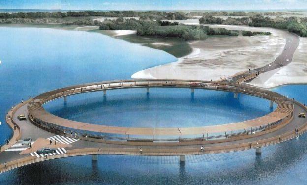 Puente sobre Laguna Garzon. Uruguay.