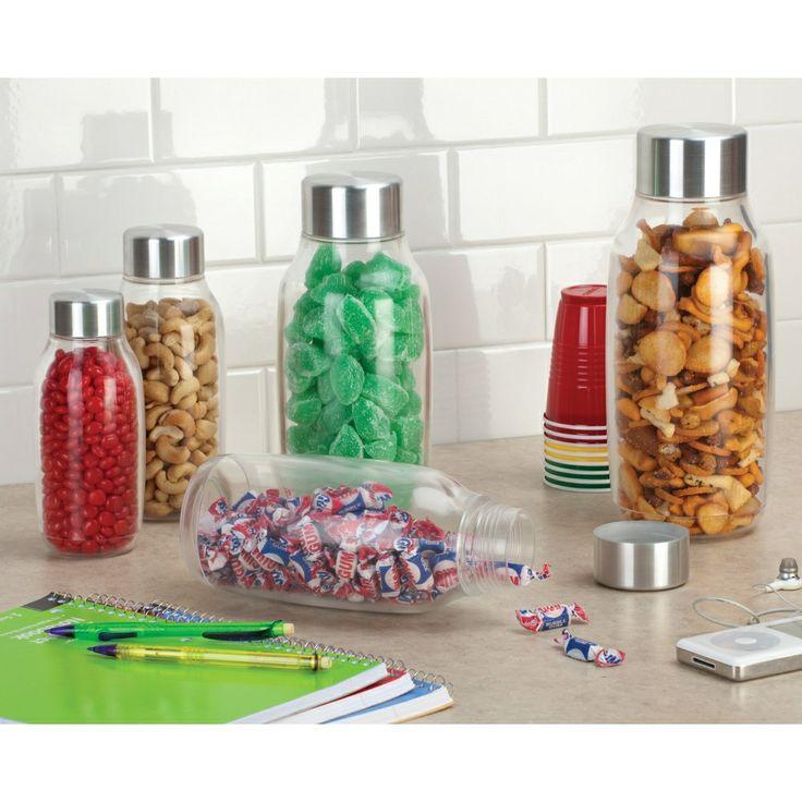 Контейнер для хранения Onza Bottlz выполнен из толстого пластика. Крышка сделана из стали с герметичным уплотнителем. В бутылках разного размера можно хранить все от напитков до сыпучих продуктов. Стильный внешний вид, удобное широкое горлышко, прочный пластик, designed in the USA!
