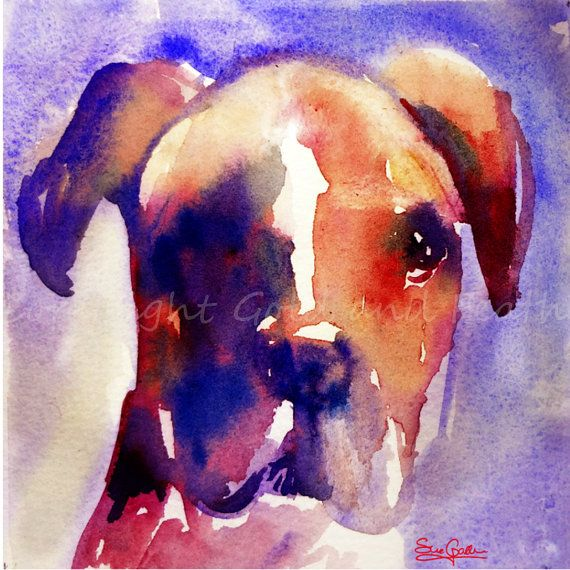 Boxer Dog Puppy Image Download  Original High Resolution Png Jpeg by GoldAndFeather, £4.00