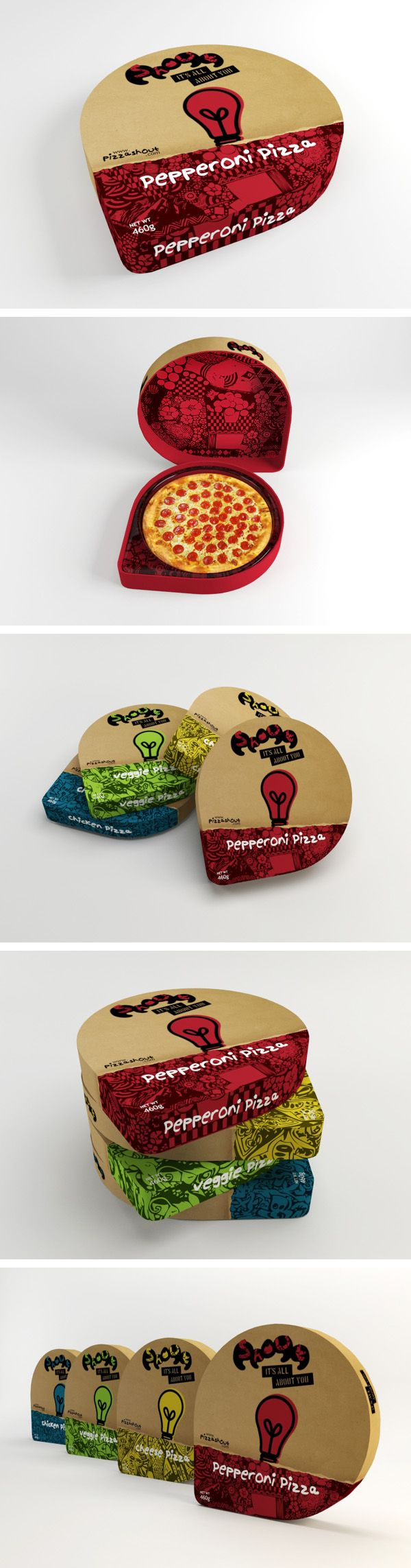 Pizza Shout by Marcus Vinícius Goulart Matos on Behance PD | design package box food