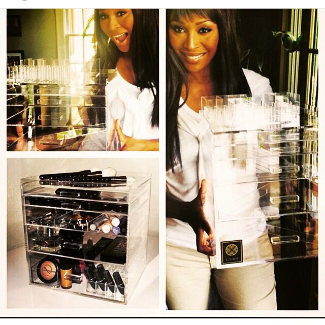 Cynthia Bailey and her Lux Box from luxboxes.com