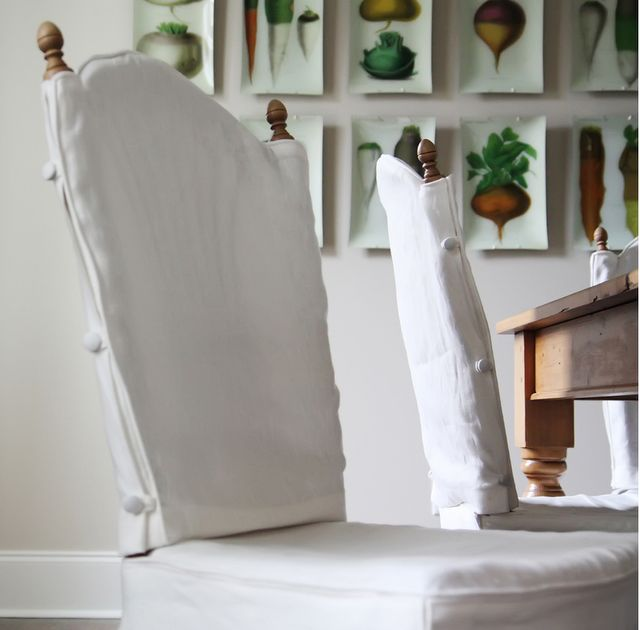 diy chair slipcover via pinkwallpaper; for the kitchen chairs? @Meghan Long