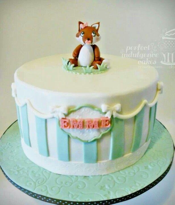Baby Fox Birthday Cake Perfect Indulgence Cakes