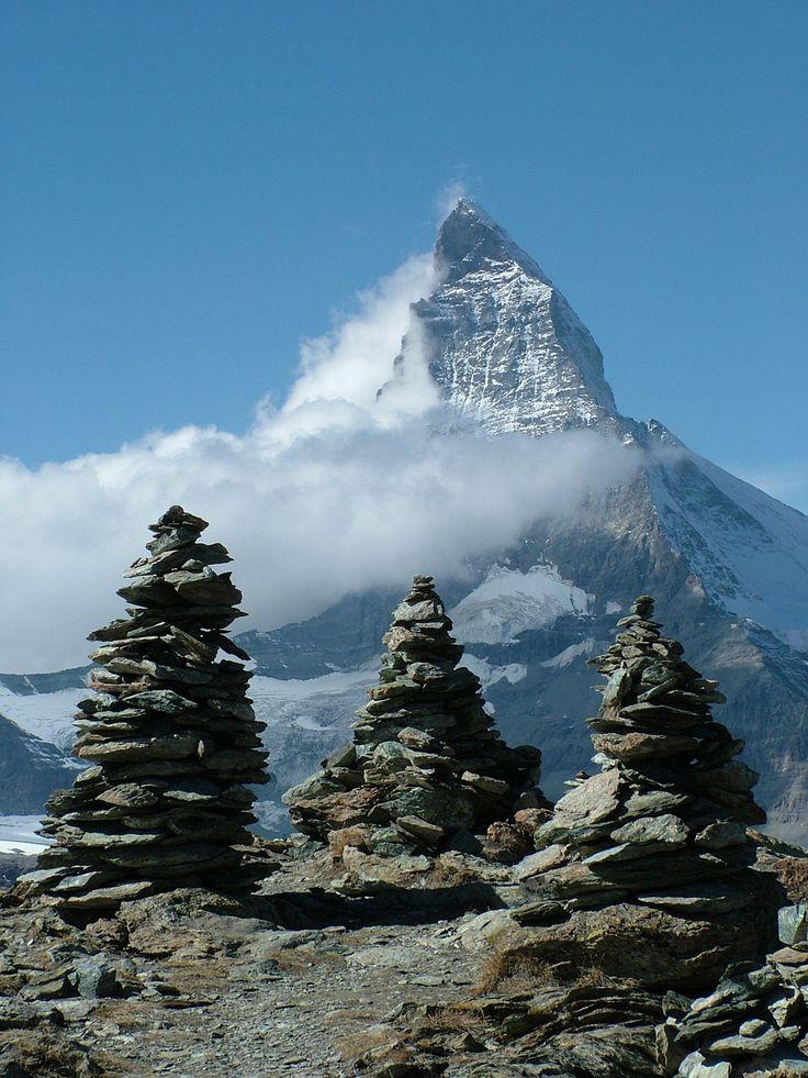 Matterhorn, mountain of the Alps, border between Switzerland & Italy                                                                                                                                                                                 More