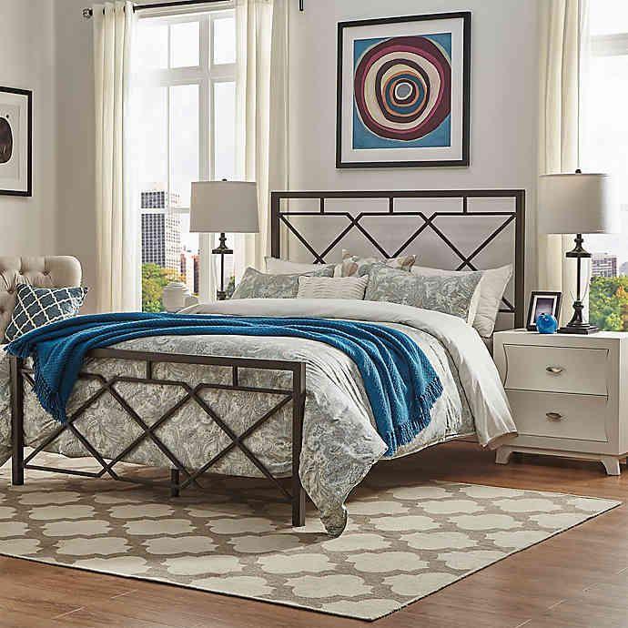 Verona Home Diana X Design Metal Bed In Dark Bronze Bed Bath Beyond Metal Beds Home Bed