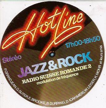 Vintage 70's sticker Hot Line JAZZ&ROCK Radio.Suisse.Romande 2.