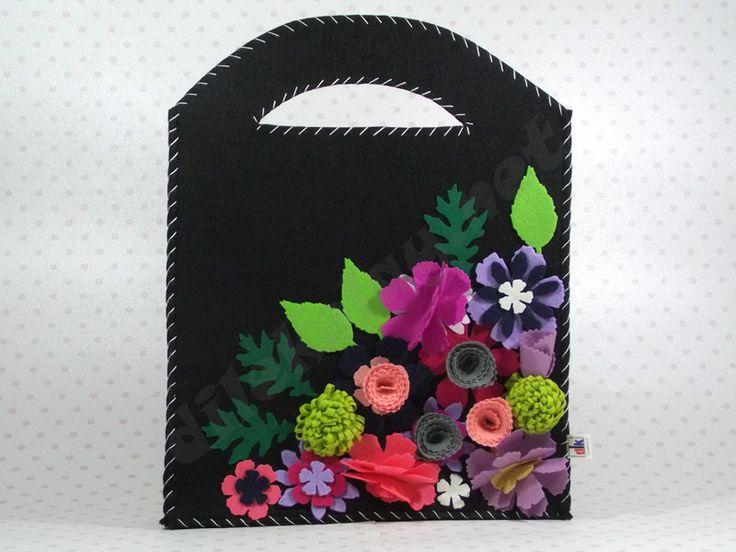 keçe çanta - EL ÇANTASI