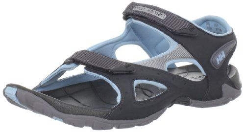 Helly Hansen Womens The Bekk Lite SandalEbonyMid GreyLight Blue10 M US * Want to know more, click on the image.