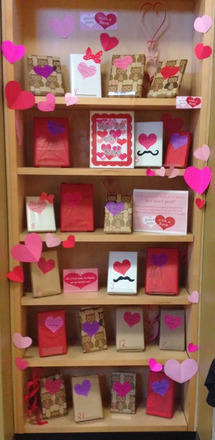 Librarian on Display: February: Blind Date With A Book library blog display blog school blog