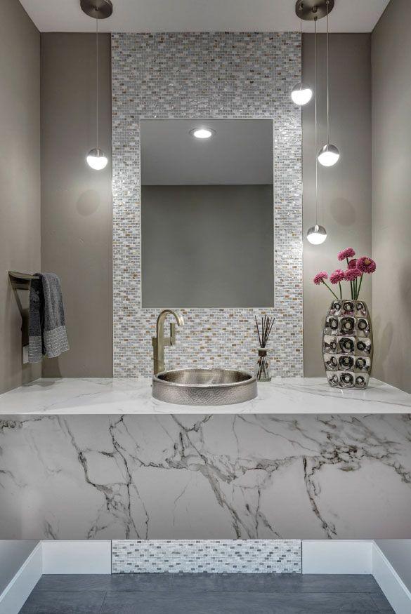 59 Phenomenal Powder Room Ideas Half Bath Designs Baths Modern Rooms Tile