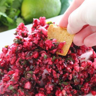 Cranberry Salsa over Cream Cheese