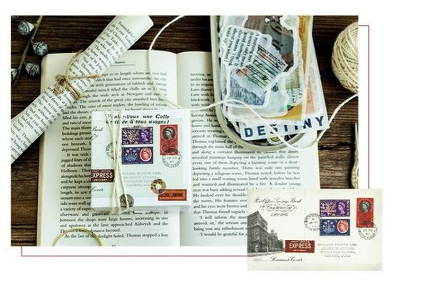 60psc Pack Vintage English Series Big Sticker Set Bullet Journal Album Diy Decoration Stickers 8 Styles Wish Album Diy Sticker Set Diy Decor