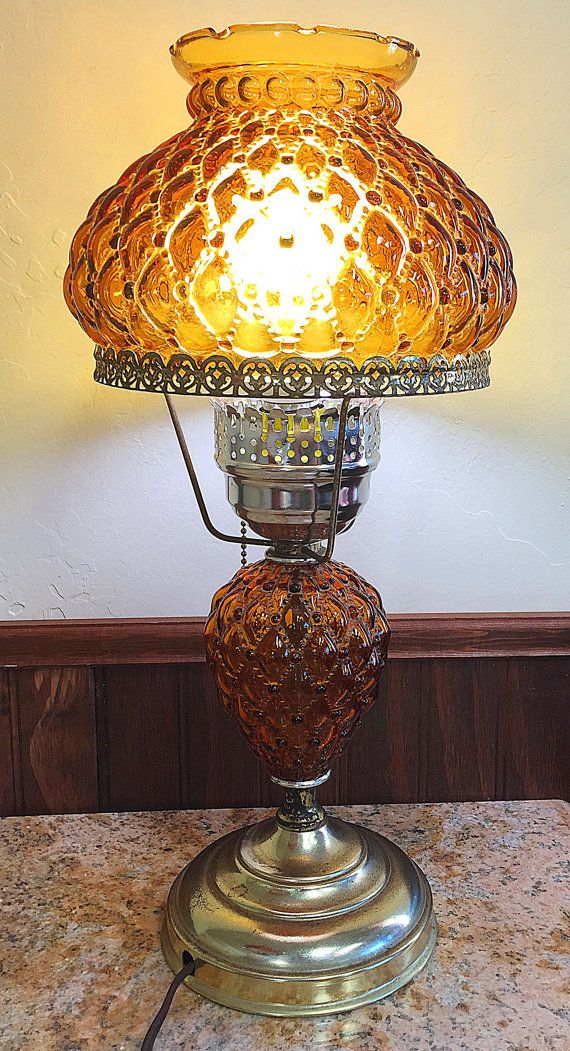 233 best fenton glass lamps images on pinterest glass lamps amber fenton student lamp quilted glass beaded shade vintage aloadofball Gallery