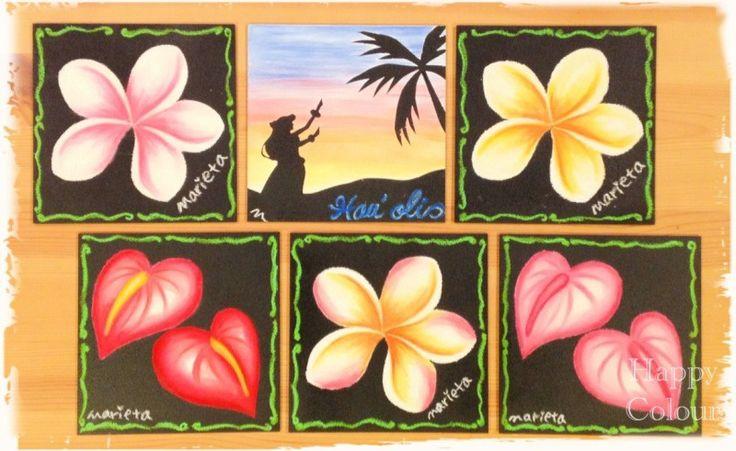 ハワイアンチョークアートでフラガール の画像|ハワイアンチョークアート&パステル和アート~Happy Colour~