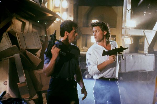 Sylvester Stallone and Kurt Russell