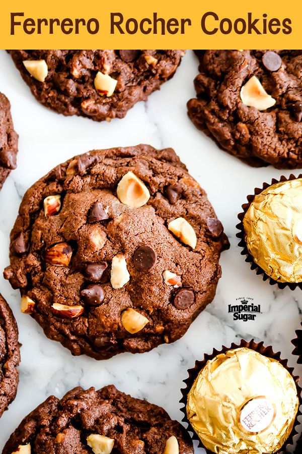 ferrero rocher cookies imperial sugar hazelnut recipes hazelnut recipes desserts chewy cookie ferrero rocher cookies imperial sugar